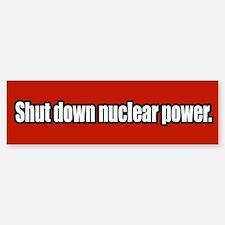 Anti Nuclear Power Bumper Bumper Bumper Sticker