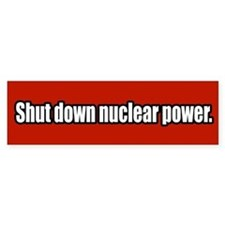 Anti Nuclear Power Bumper Bumper Sticker