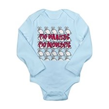 Mo Bunnies Mo Problems Long Sleeve Infant Bodysuit