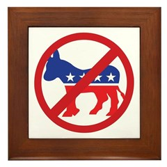 Anti-Democrat Framed Tile