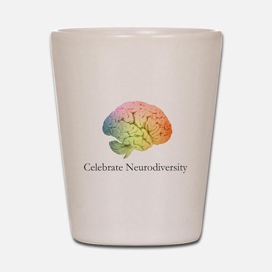 Celebrate Neurodiversity Shot Glass