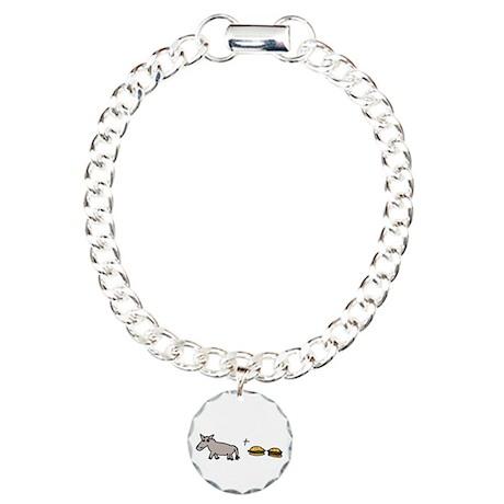 Assburgers Charm Bracelet, One Charm