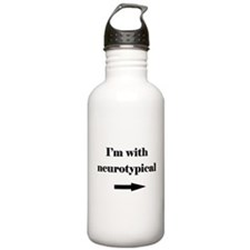 I'm With Neurotypical Water Bottle