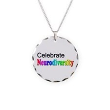 Celebrate Neurodiversity 2 Necklace Circle Charm