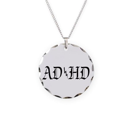 ADHD Necklace Circle Charm