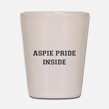 Vintage Aspie Pride Inside Shot Glass