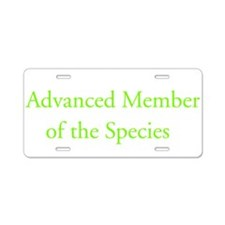 Advanced Member of the Specie Aluminum License Pla