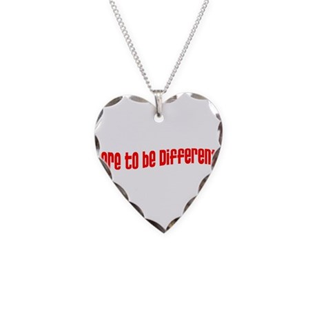 Dare to be Different Necklace Heart Charm