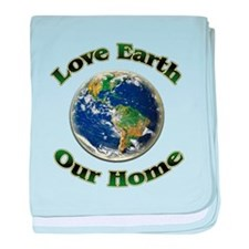 Love Earth Home ~ baby blanket
