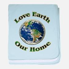 Love Earth Home ~ baby blanket