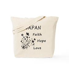 Japan Faith and Hope Tote Bag