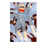 Baby Boy Sock Monkey Postcards (Package of 8)