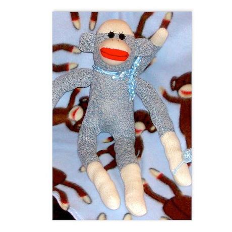 Baby Boy Sock Monkey Postcards (Package of 8)