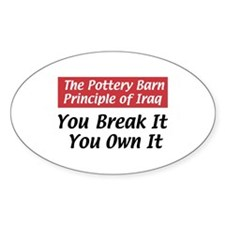 Pottery Barn Principle Oval Decal