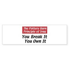 Pottery Barn Principle Bumper Bumper Sticker