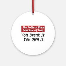 Pottery Barn Principle Ornament (Round)
