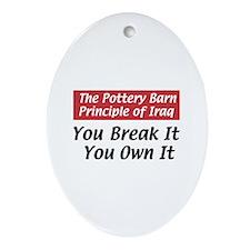Pottery Barn Principle Oval Ornament
