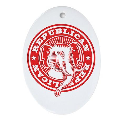 Elephant Seal Ornament (Oval)