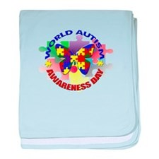 World Autism AWARENESS Day baby blanket