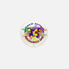 World Autism AWARENESS Day Mini Button