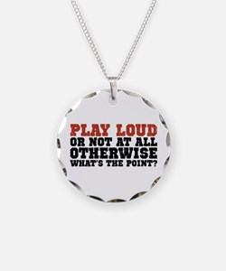 Play Loud Necklace Circle Charm