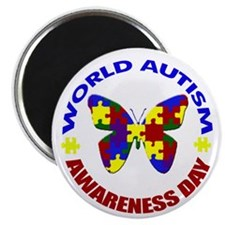 W.A.A.D. World Autism Awarene Magnet