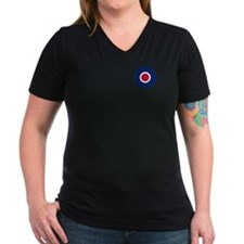 RAF Women's V-Neck T-Shirt (Dark)