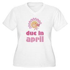 April Baby in Bonnet Due Date T-Shirt