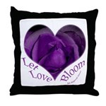Jenny's Purple Roses, Let Love Bloom Throw Pillow