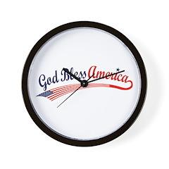 God Bless Wall Clock