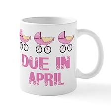 Baby Buggy April Due date Mug