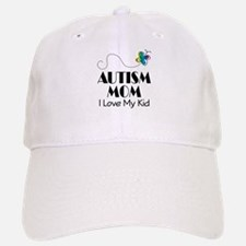 Autism Mom I Love My Kid Baseball Baseball Cap