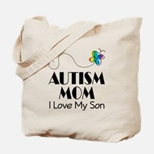 Autism Mom I Love My Son Tote Bag