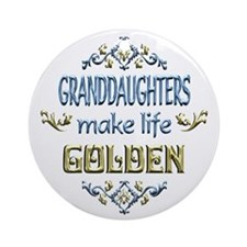 Granddaughter Sentiments Ornament (Round)