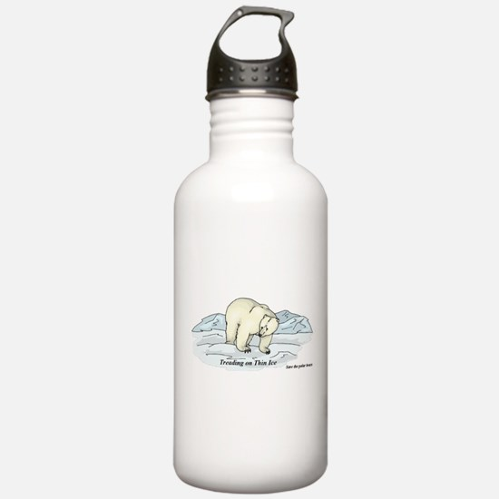 Save the Polar Bears Water Bottle