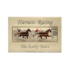 Early Harness Racing Rectangle Magnet