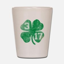 St Patricks Day 3/17 Shamrock Shot Glass