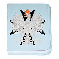 Polish Eagle Black Maltese Cr baby blanket