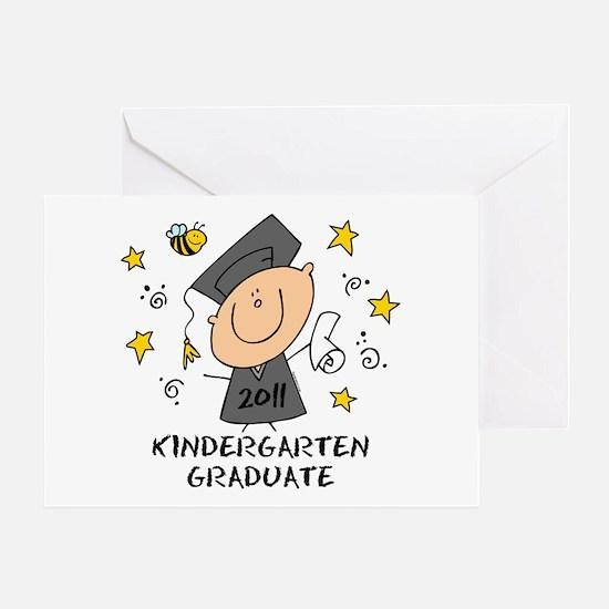 Cute Boy Kindergarten Grad 2011 Greeting Card