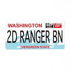 2d Ranger Bn Washington License Plate