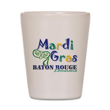 Mardi Gras Baton Rouge Shot Glass