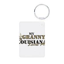 My Granny in Louisiana Keychains