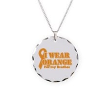 I wear orange brother Necklace