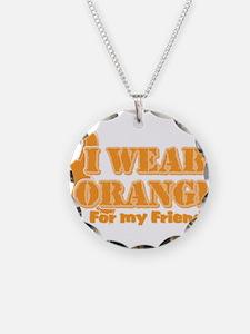 I wear orange friend Necklace