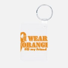 I wear orange friend Aluminum Photo Keychain