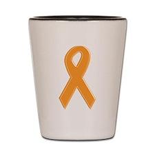 Orange Aware Ribbon Shot Glass
