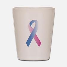 Pink Blue Awareness Shot Glass