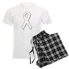 White Awareness Ribbon Pajamas