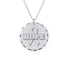 White Hope Ribbon Necklace
