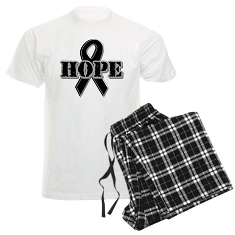 Black Hope Ribbon Men's Light Pajamas